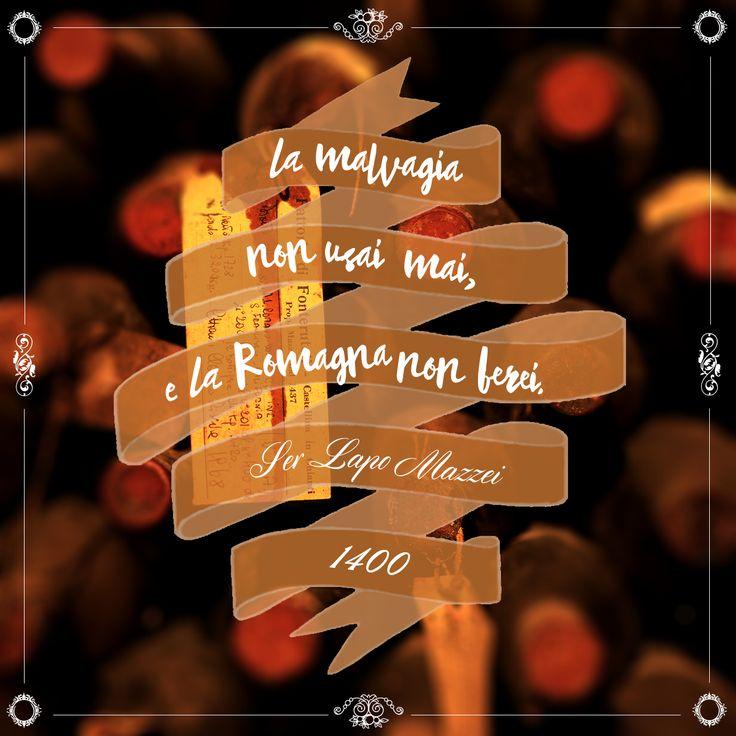 """""""La malvagìa non usai mai; e la Romagna non berei."""" Ser Lapo Mazzei, 30 dicembre 1400 @marchesimazzei #marchesimazzei #fonterutoli #wine #tuscany #winequotes"""