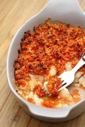 Dos de cabillaud en crumble de chorizo et parmesan, prêt en 5 minutes!