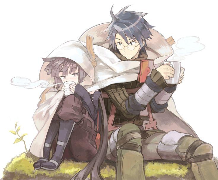 shiroe and akatsuki gryffon - the cuteness in tho pic is terrifying