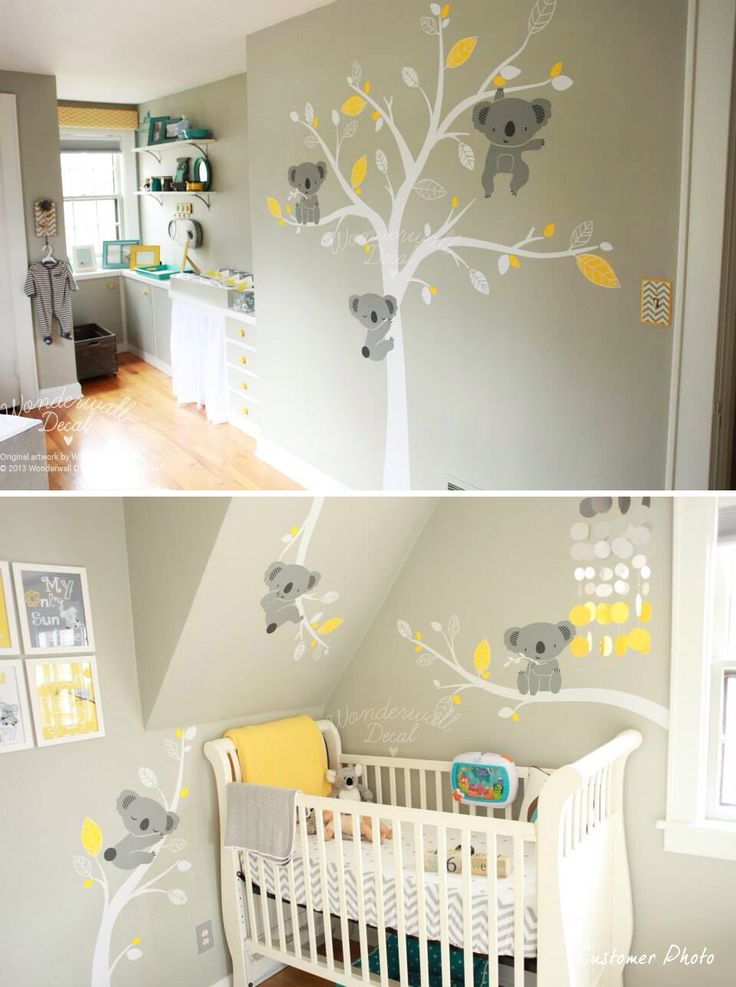 Stickers koala idee bb pinterest arbres koalas et for Decoration de chambre pour bebe