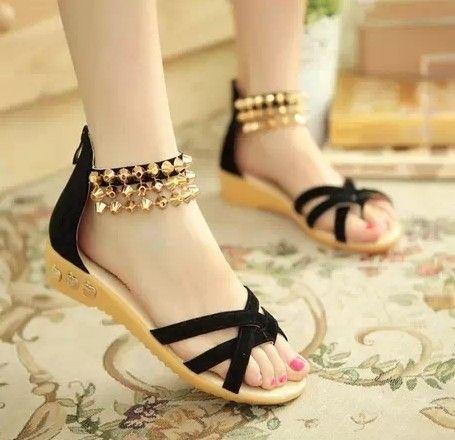 Чешский бисером туфли сандалии клин сандалии пляжные сандалии свободного покроя обувь