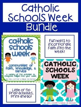 Catholic Schools Week is usually a fun, but busy week! When I first started teaching I searched for special ways to celebrate the week- I couldn't find any so I made my own! These are some fun activities for Catholic Schools Week that you can integrate into your learning throughout your school week.
