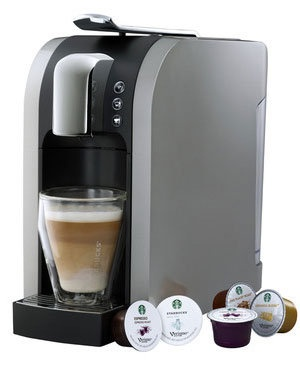 Verismo, Starbucks's new single-cup espresso and coffee machine. (Starbucks)....WANT