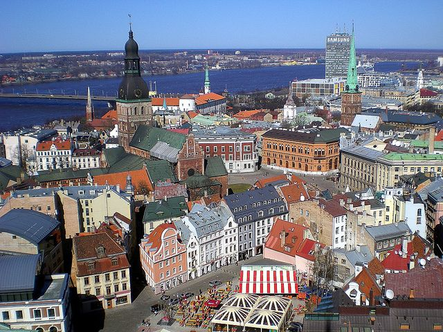 "Riga, Latvia - ""gargoyles and goddesses adorn over 750 stately buildings"" while ""Old Town is a fairy-tale kingdom of winding wobbly lanes and gingerbread trim"""