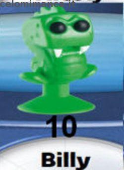 LIDL Stikeez 2015: Fronte Figurina n. 10 Billy