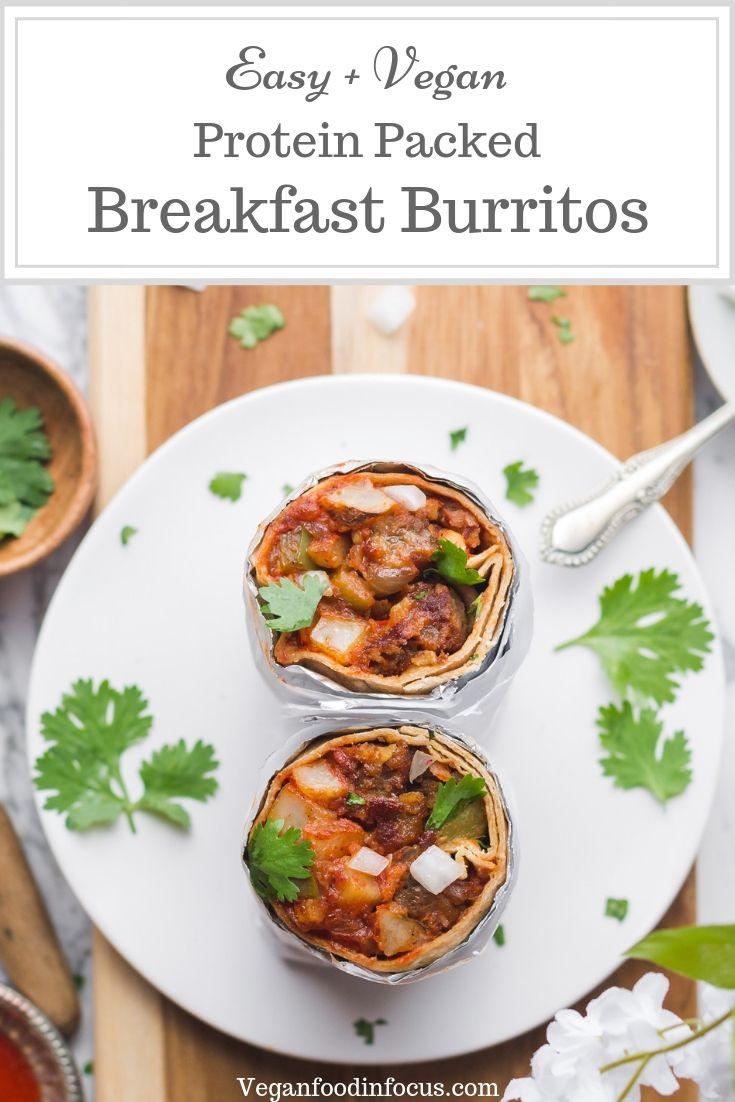 Easy Vegan Breakfast Burritos Recipe Vegan On The Go Breakfast Vegan Breakfast Easy Easy Vegan