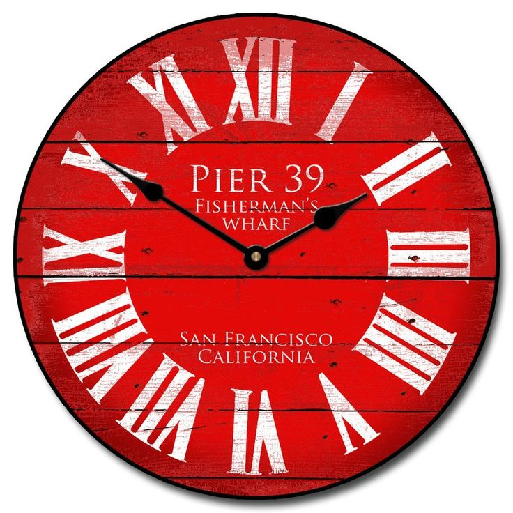 Awesome This Red Wall Clock Will Look Stunning On A Single Toned Wall. Http:/