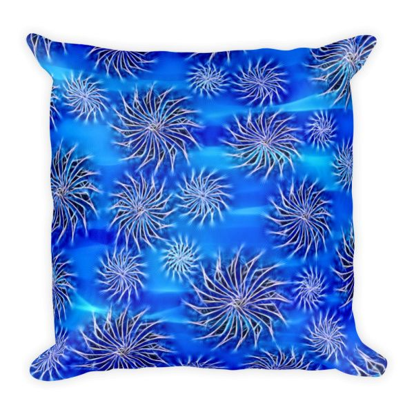 Sea blue stars pattern, glittering Created by Casemiro Arts If you don't want to be seen as a square in your home decor choices, you may want to go for a rectangular #pillow #bedroom #decor #blue