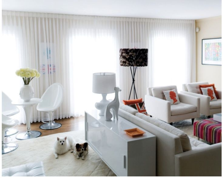 Inspiration: Cabinet Behind Sofa Table; Modern And Child Friendly. Eclectic Living  RoomWhite ... Part 92