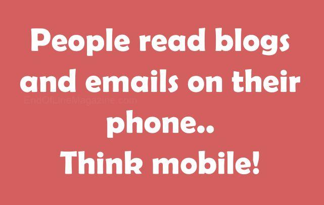 Always think mobile! #socialmedia #marketing