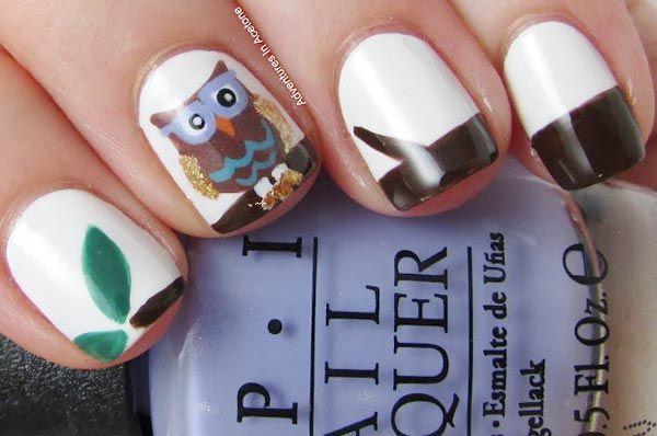 owl mani....want so badly