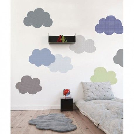 sticker enfant nuage brume de mer lilipinso stickers et. Black Bedroom Furniture Sets. Home Design Ideas