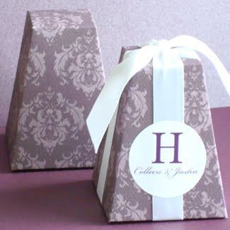 Classy in any color #wedding favor boxes