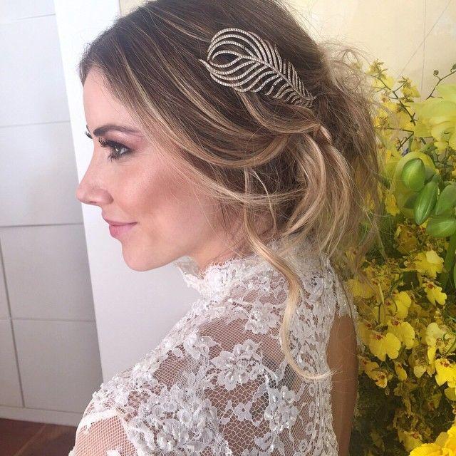 Folha de diamantes com ouro branco  meu something borrowed de sábado! Mariana Vital love u! ❤️