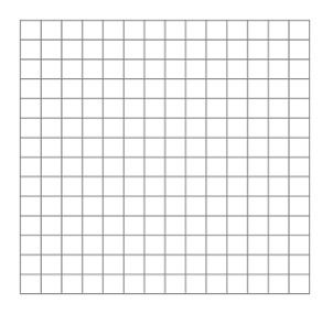 14 x 14 blank | Math | Pinterest | Graph Paper, Paper and ...