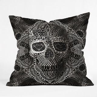 Deny Designs Ali Gulec Lace Skull Throw Pillow Lace Skullhome Decor