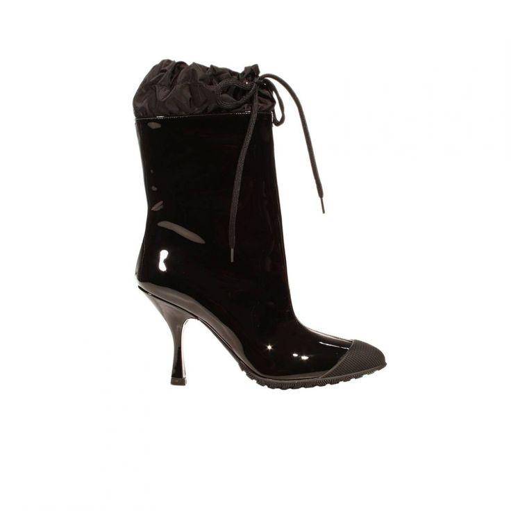 Miu Miu: Rain shoes. Fall outfit >>>  http://bit.ly/1Pv5AF1