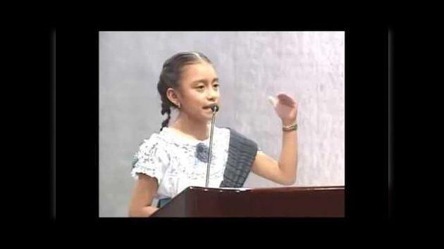 Videoclub - El emotivo discurso de una niña mexicana orgullosa de ser indígena