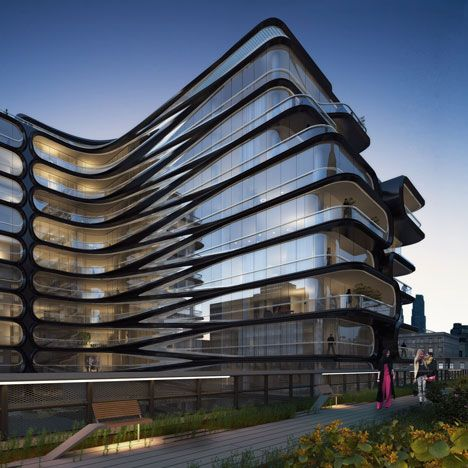 New York developer Related Companies has released new images of Zaha Hadid's High Line-adjacent building to tempt buyers into investing in the project.