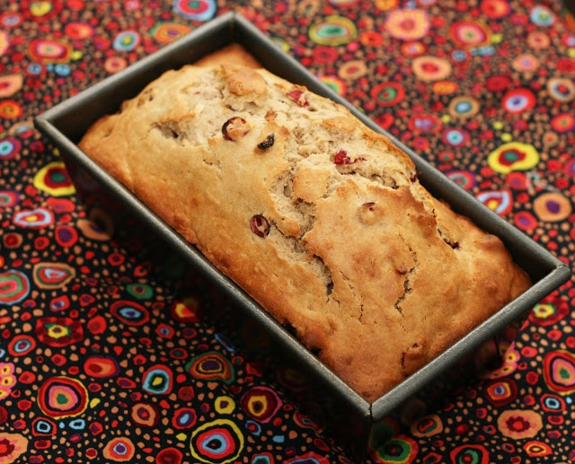cranberry bread - add 1/2 cup extra fresh cranberries to recipe.