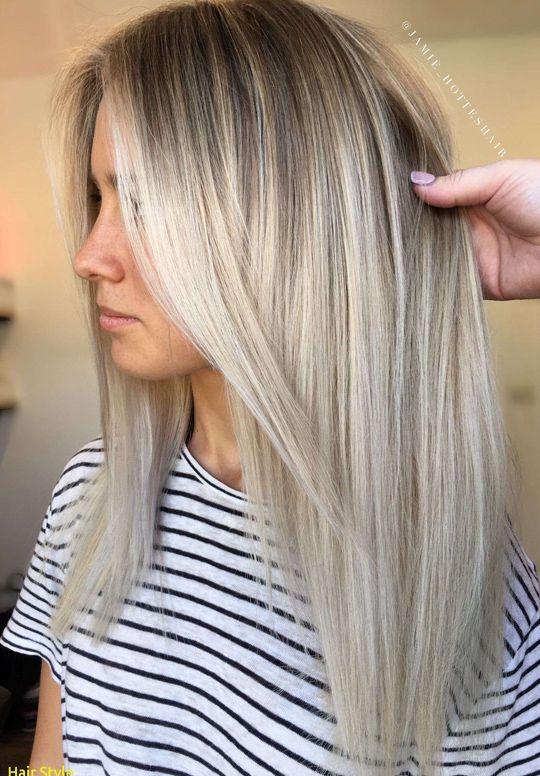 Blonde Balayage auf mittellanges Haar Luxus Instag…