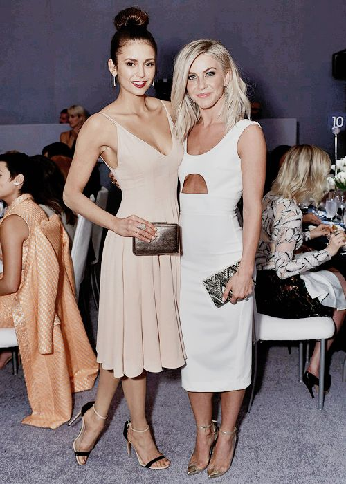 Nina Dobrev and Julianne Hough attend the 22nd Annual ELLEN Women In Hollywood Awards on October 19th, 2015.
