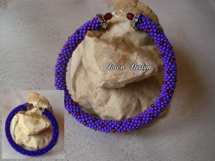 Darkblue&red bead crochet bracelet <3 Follow me on my Facebook page: https://www.facebook.com/IvicaDesign/ Buy my jewellrys on: https://porteka.com/hu/ivica