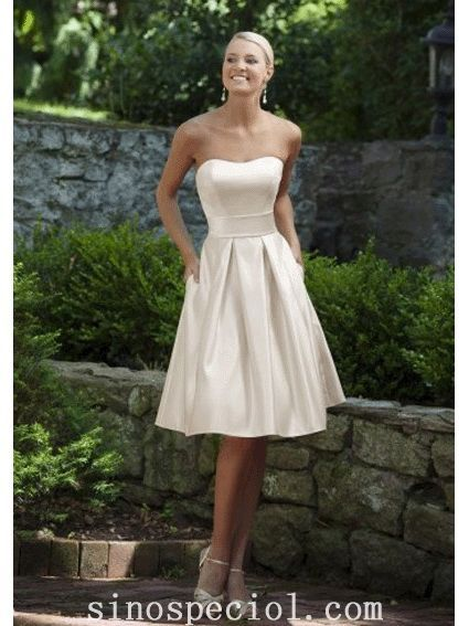 Charming Ivory A-line Scoop Neckline Bridesmaid Dress