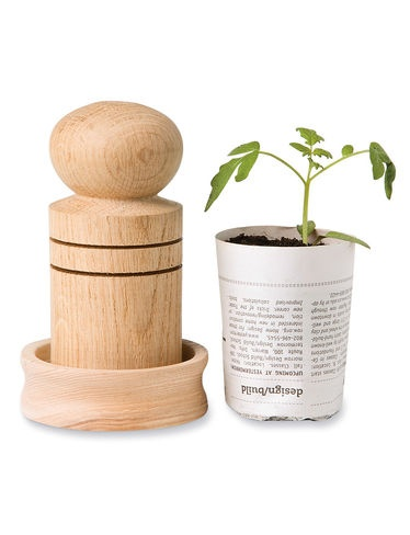 Paper Pot Maker- We are making one for each guest. So cute and fits in with Go Green theme!