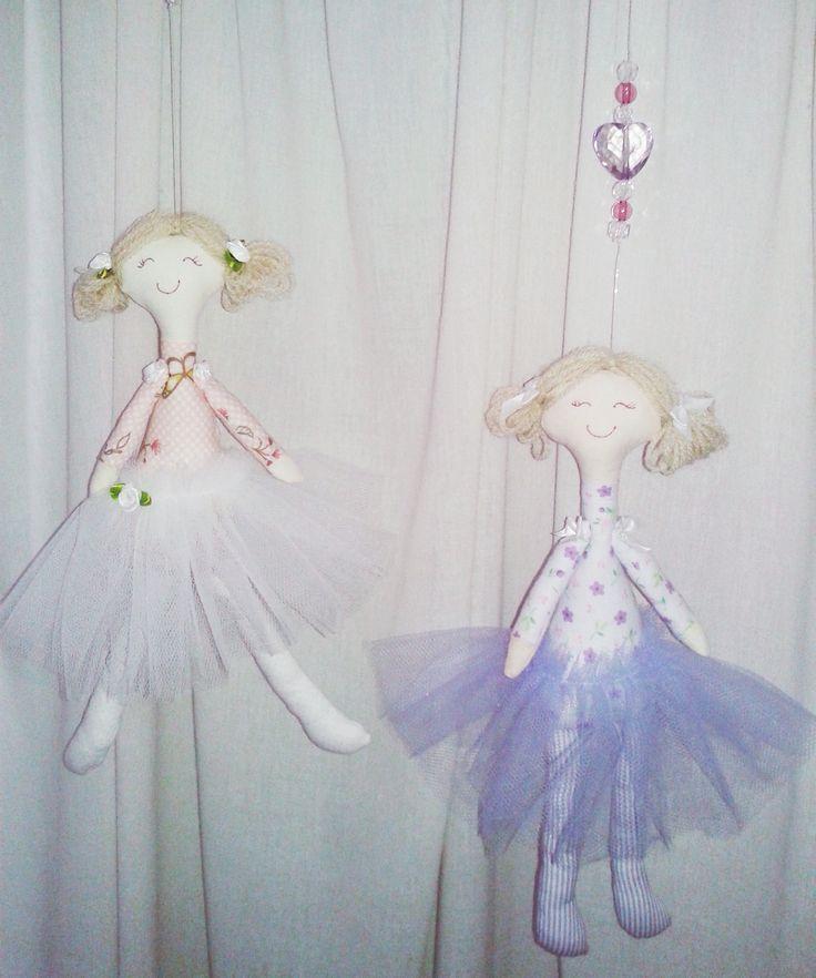 Doces Bailarinas para decorar o quarto das meninas! http://www.giracraft.wordpress.com