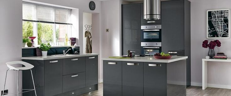 Shropshire Kitchen Design Greenwich Gloss Graphite