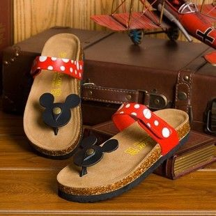 Hot selling Casual Women Sandals Cartoon Mickey Mouse Slippers Cork Flats Summer Shoes Women Flip Flops US $19.90