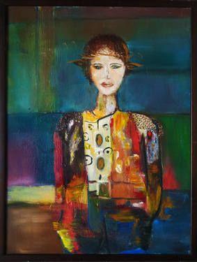 "Saatchi Art Artist Rudina Pema; Painting, ""ZANE"" #art"