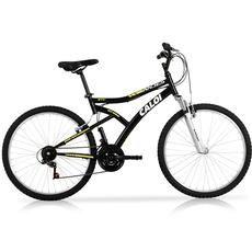 Bicicleta Caloi Andes com Aro 26, 21 Marchas, Suspensão Dianteira, Freios V-Brake, Pedivela em Aço Tripla 170mm,  Preto Fosco