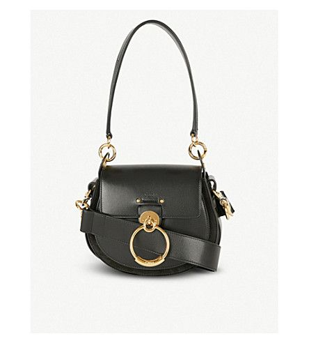 be8077e27a8e CHLOE - Tess leather and suede cross-body bag