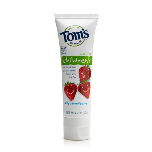 Toms of Maine Anticavity Childrens Toothpaste Silly Strawberry 42 Ounce Pack of 6 *** See this great product.