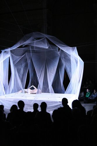 Fabric stage design Butoh performance by Ximena Garnica; stage design by Shige Moriya by Asian Art Museum, via Flickr