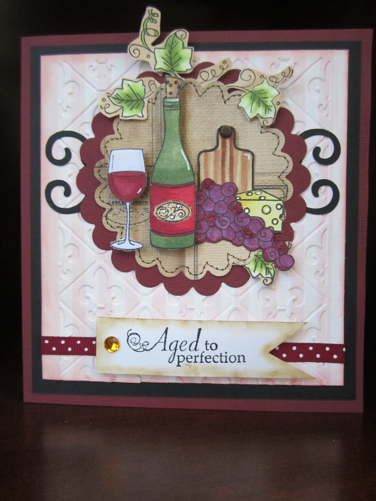 59 best Wine Themed Cards images – Themed Birthday Cards