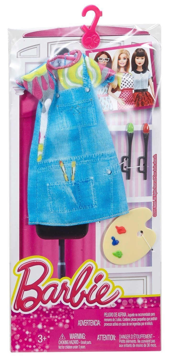 NEW! 2016 BARBIE COMPLETE LOOK FASHION PACK I CAN BE PAINTER ARTIST 4 CURVY DOLL | eBay