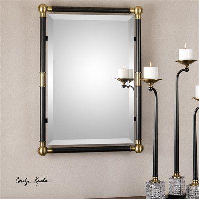 Uttermost 01131 Rondure Bronze Metal Wall Mirror