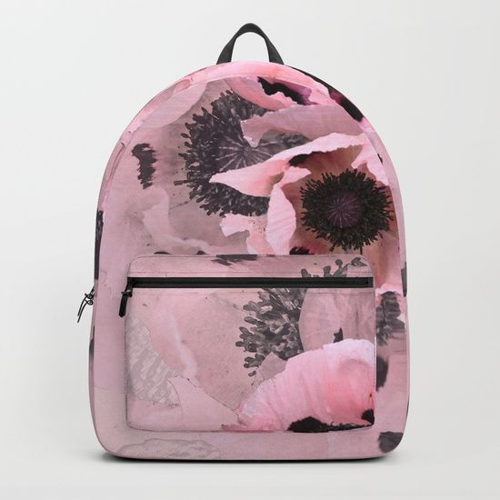 Poppies in the pink Backpacks