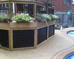 Deck Skirting Black Square