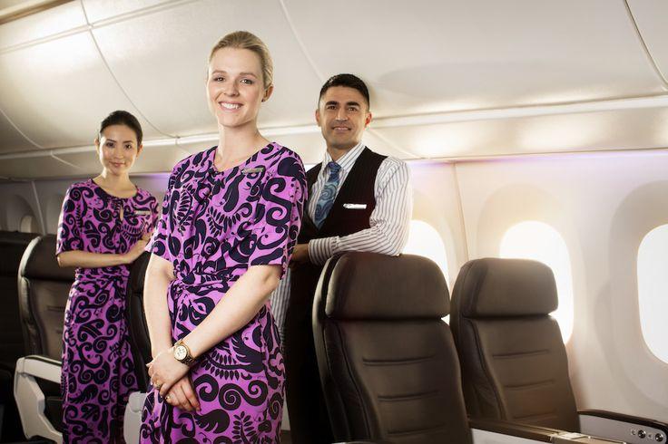 Air New Zealand Flight Attendants #AirNZ #787-9  For more information on Air New Zealand's new Boeing 787-9 visit http://www.airnewzealand.co.nz/futuretakingflight #AirNewZealand #NewZealand