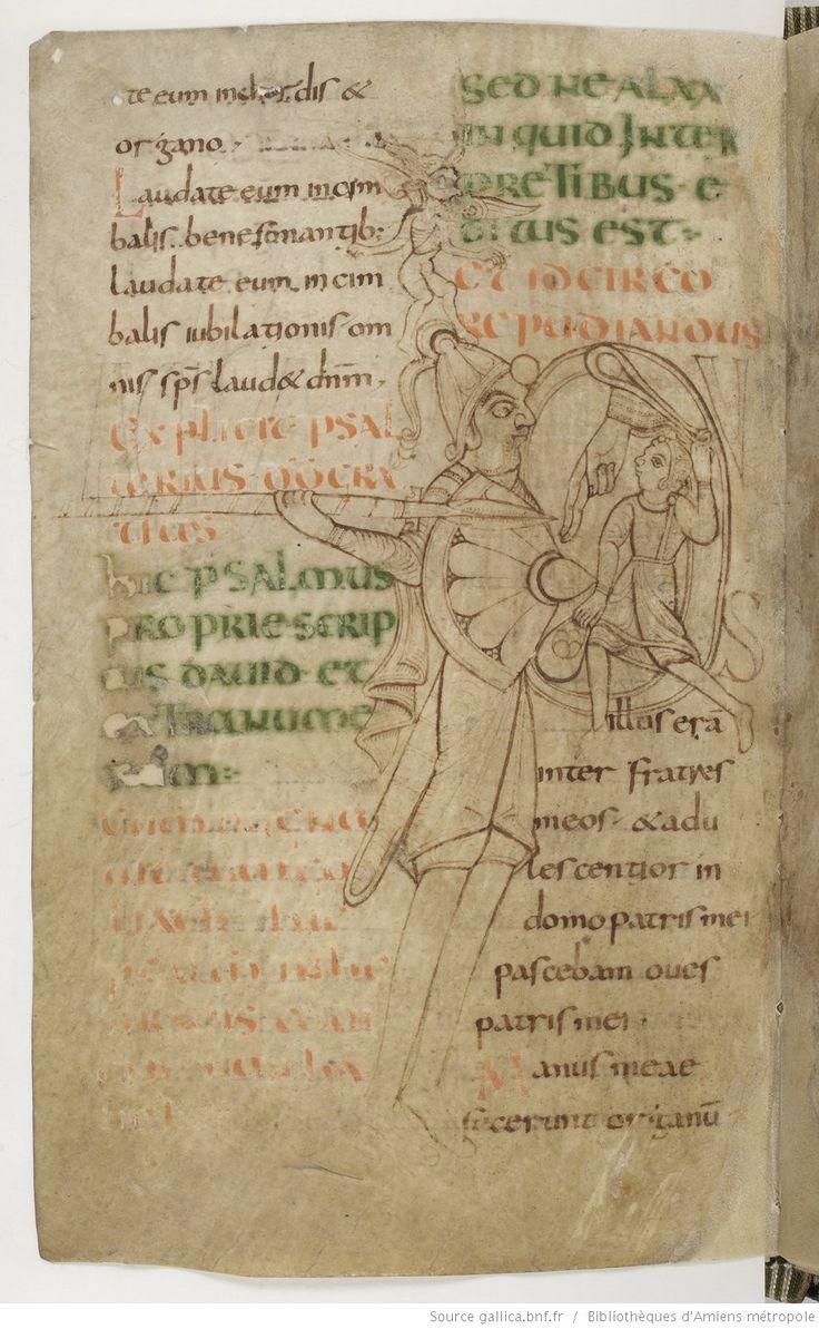 Amiens Bibliothèque municipale Ms. 18, Psautier, avec cantiques et litanies, fol. 123v