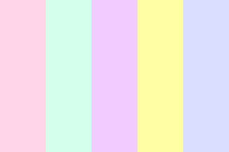 pastels color palette for craft room swap out last strip for a bluer variation or orange. Black Bedroom Furniture Sets. Home Design Ideas