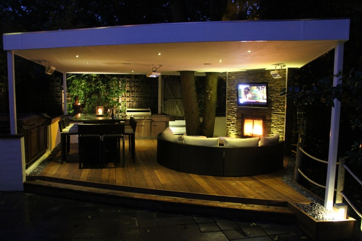 Outdoor entertainment area complete with bar and BBQ!...