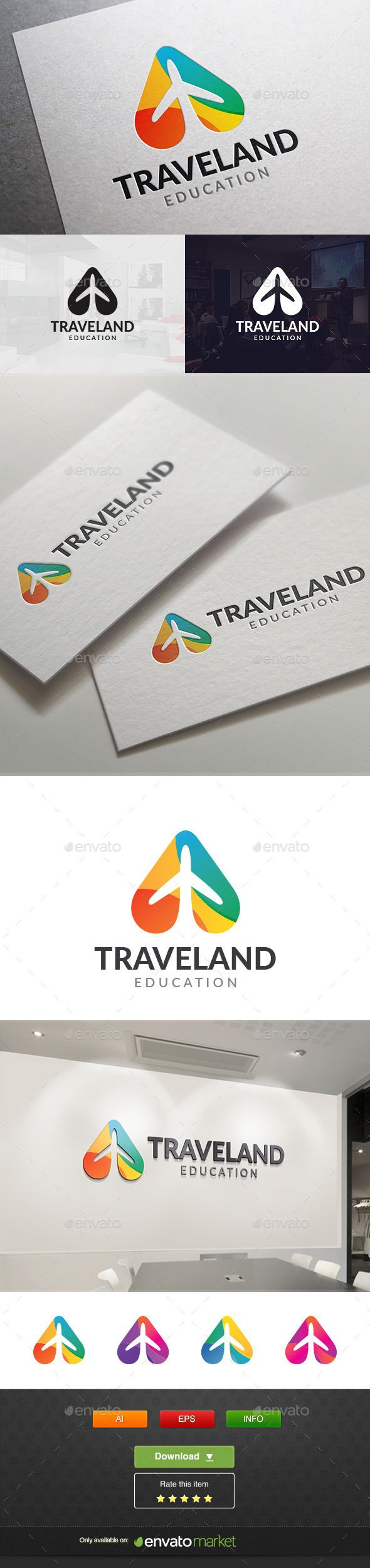 Travel Land Logo Template #design #logotype Download: http://graphicriver.net/item/travel-land/11765450?ref=ksioks