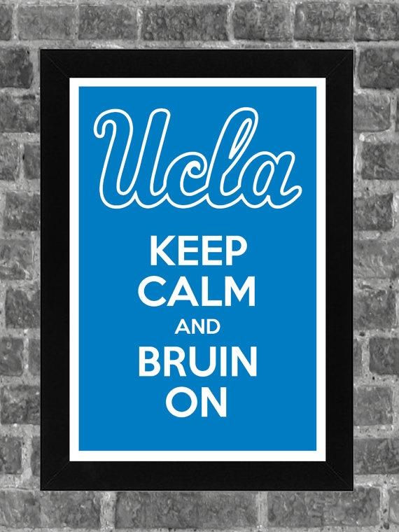 Keep Calm UCLA Bruins NCAA Print Art 11x17 by KCPrinting on Etsy, $14.99