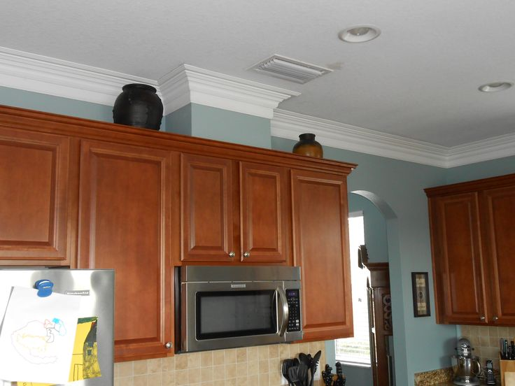 Kitchen Crown Molding Work If The Cabinets Have A Gap