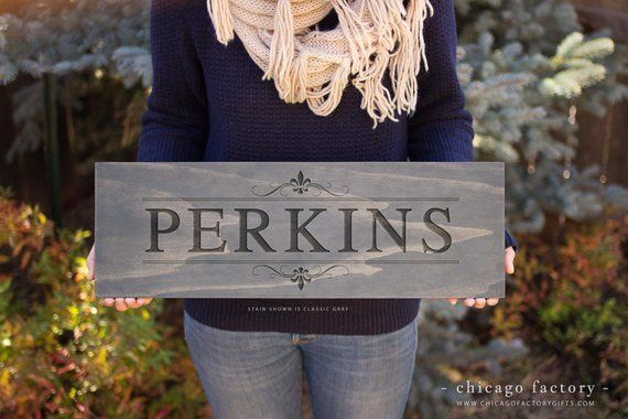 Personalized Last Name Sign COUTURE Street Sign
